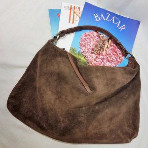 Gap Brown Suede & Leather Hobo Boho Bag